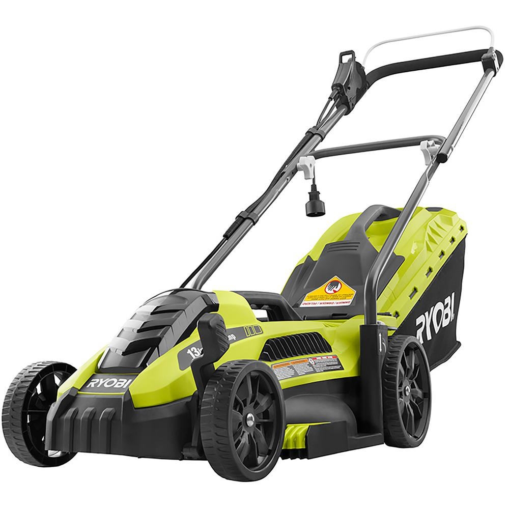 Ryobi push lawn mower with color green design
